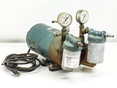 General Electric 1/3 HP AC Motor w/ Gast Air Pump (5KH39KG416AT)