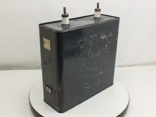 General Electric Pyranol Capacitor 3000VDC 120uf 18F268
