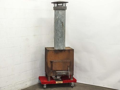 "Sunrise 24"" x 18"" x 24"" Wood Burning Stove Fireplace Vintage One of a Kind"