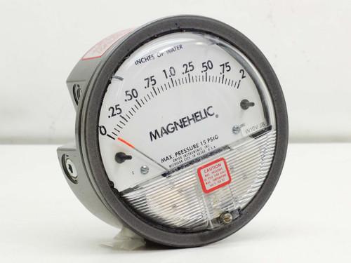 "Dwyer Magnehelic Pressure Gauge 0-2"", Max Pressure 15 PSIG (W10VJB)"
