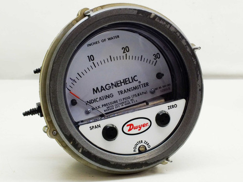 "Dwyer 605-30C 0-30"" Magnehelic Differential Pressure Indicating Transmitter Gauge"