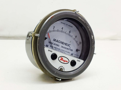 Dwyer Magnehelic Differential Pressure Indicating Transmitter Gauge (605-10C)