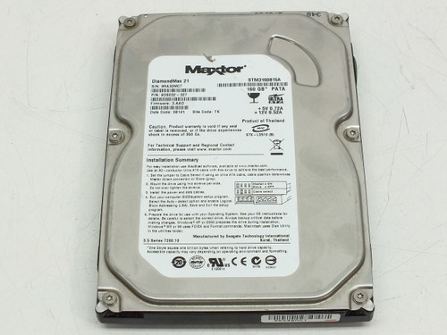 "Maxtor STM3160815A 160GB 3.5"" P/N 9DS032-327 DiamondMax 21 Hard Drive"