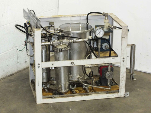 Lacquer Dispensing System w/ Iwaki Metering Pump and Elepon Bellows Pump