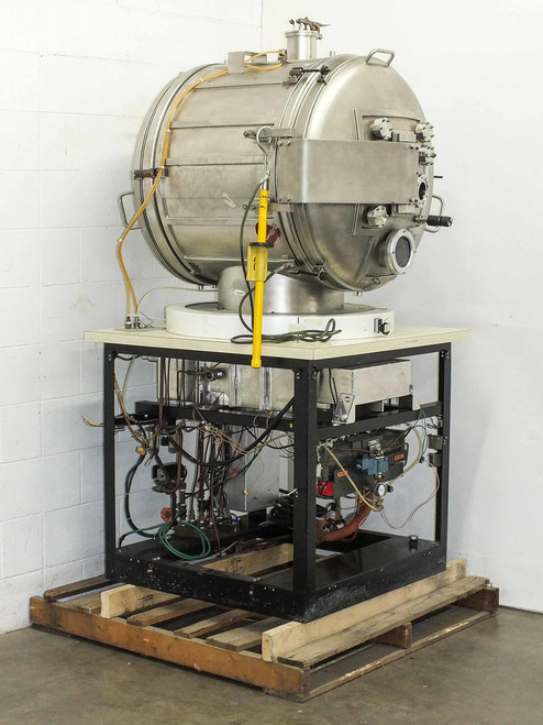 Varian 12 CF Cylindrical Space Simulation High Vacuum Chamber (Stainless Steel)