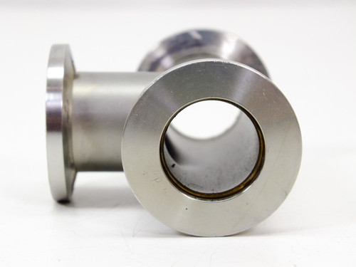 """stainless Steel Vacuum Component with Three .6875"""" Openings (T Flange)"""