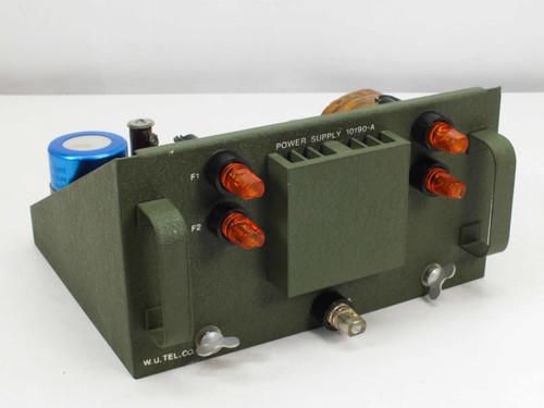 Prototype Transformer Corp Power Supply WU Tel Co 10190-A