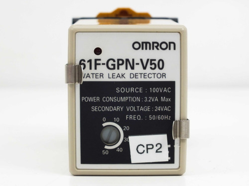 Omron 61F-GPN-V50 Water Leak Detector with Omron Type PFC-N8 Mounting Base