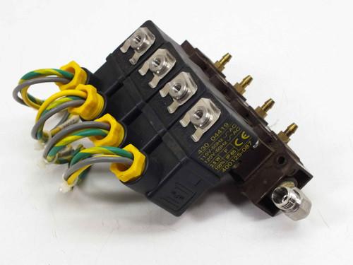 Asco 10900001 / 18900001 4 Solenoid Valves with Manifold 110/115VAC