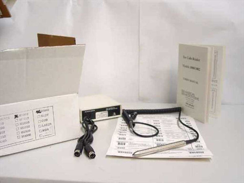 American Microsystems Barcode Reader w/ Stainless Wand 1000 M1000