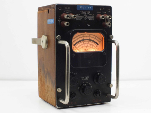 General Radio CO. GenRad 1800-A 115 Volts Vacuum-Tune Voltmeter