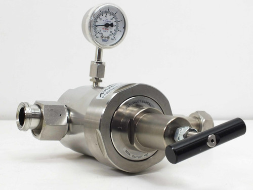 APTech Bulk Gas Regulator Stainless Steel 30-100 PSI Gauge SMC AP9110SM 3PW MV16