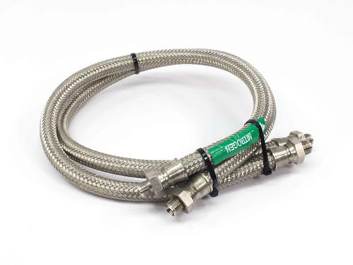 """Swagelok FM Series Pair of 35"""" Stainless Steel Cryogenic / Vacuum Metal Hose 1/4"""