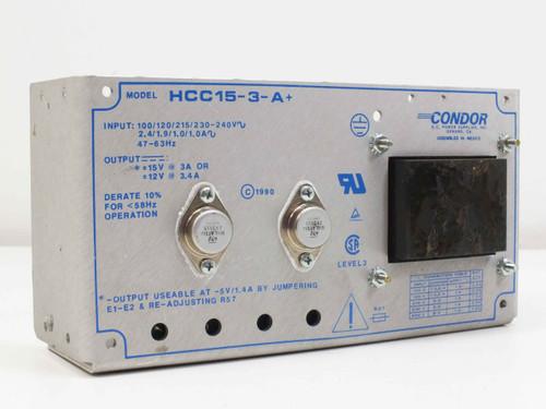Condor HCC15-3-A& DC Dual Power Supply 15VDC 3A 12VDC 3.4A