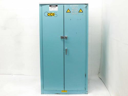 Justrite 60 Gallon Acids and Corrosives Lab Storage Cabinet 25560B