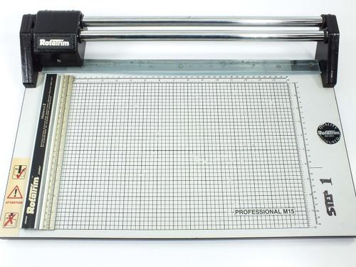 "Rotatrim M15 Professional Rotary Guillotine Paper Cutter 15"" Wide"