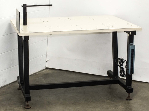 "Steel Top Tech Bench Work Table - Multiple feed throughs 48"" x 36"" 40"" High"