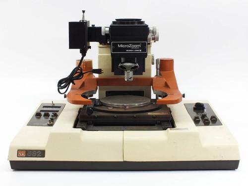 "Rucker & Kolls 682 Semi-Automatic X/Y Wafer Prober 6"" Nickel Plated Vacuum Chuck"