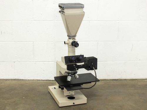 Olympus BHMJL Metallurgical Trinocular Microscope & Polaroid Attachment PM-10M