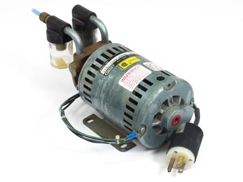 Gast 1531-107B-G288X 1/10 HP Rotary Vane Vacuum Pump