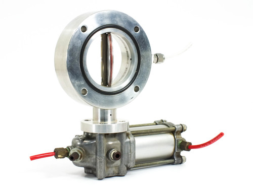"""Rota-Cyl ADL2.0x100 Pneumatic Actuator w Vacuum System Butterfly Valve ID 3"""""""