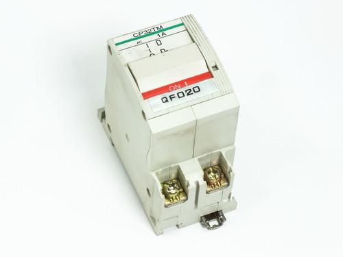 Fuji Electric CP32TM/1 Circuit Protector / Breaker 1 Amp 2-Pole CP32T-M001