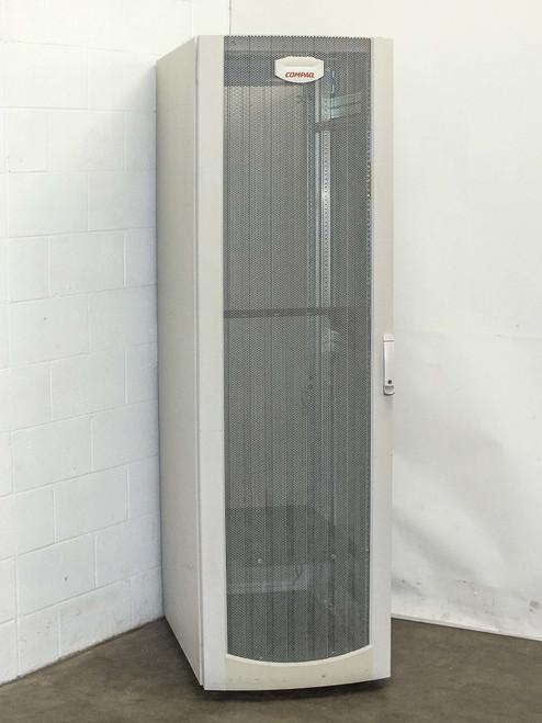Compaq 9000 42U Server Rackmount Enclosure Cabinet on Wheels with Doors