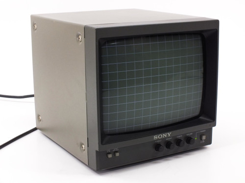 """Sony PVM-95 Black and White B/W Video Monitor Security TV 9"""" BNC & RCA"""