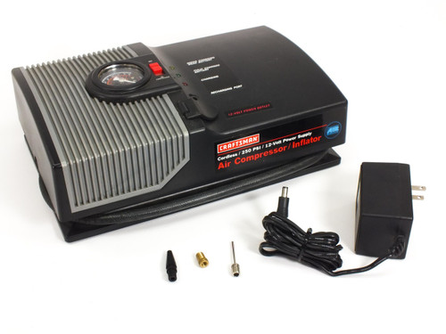 Craftsman 75116 Portable Battery Powered Air Compressor 250 PSI 12-Volt DC
