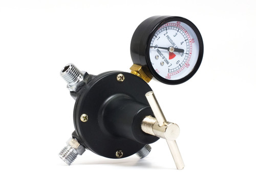"Generic Regulator 0-100 PSI with Pressure Gauge & 1/4"" NPT Ports"