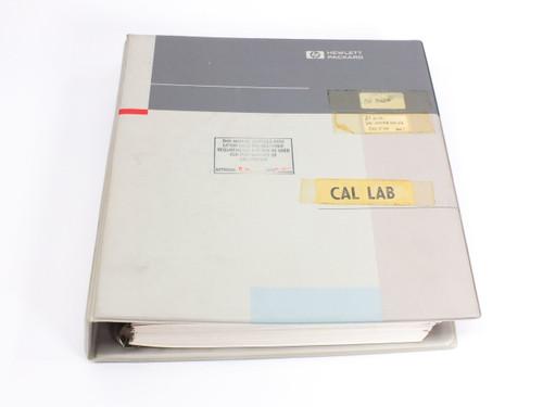 HP 8112A  50 MHz Programmable Pulse Generator Operating/Programming Manual