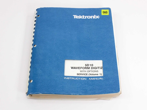 Tektronix 5D10  Waveform Digitizer with Option Service (Vol 1) Instruction Manua