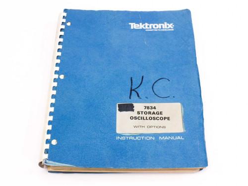 Tektronix 7834  Storage Oscilloscope with Options Instruction Manual