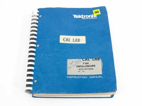 Tektronix 7104  Oscilloscope with Options 02/03 Instruction Manual