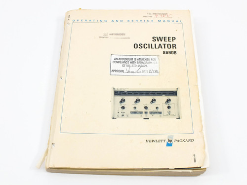 HP 8690B  Sweep Oscillator Operating and Service Manual