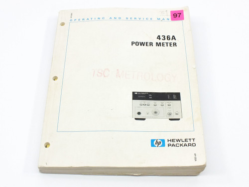 HP 436A  Power Meter Operating and Service Manual