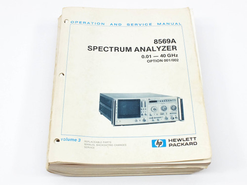HP 8569A  Spectrum Analyzer Operation and Service Manual Volume 3