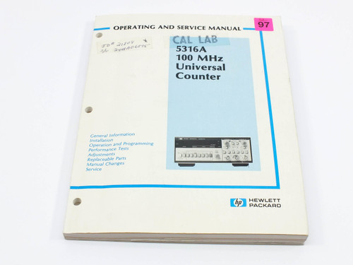 HP 5316A  100 MHz Universal Counter Operating and Service Manual