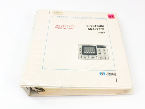 HP 3580A  Spectrum Analyzer Operating and Service Manual