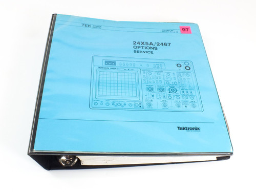 Tektronix 24X5A/2467  Options Service Manual