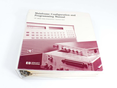 HP 3852A  Data Acquisition/Control Unit Mainframe Config. & Prog. Manual Vol.1