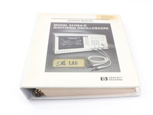 HP 54100A/D  Digitizing Oscilloscope Service Manual