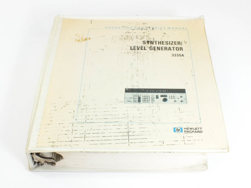HP 3335A  Synthesizer/Level Generator Operating and Service Manual