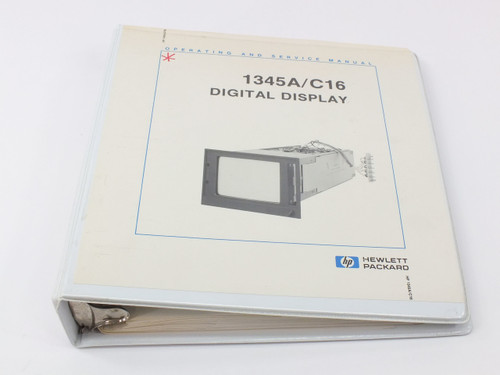 HP 1345A/C16  Digital Display Operating and Service Manual