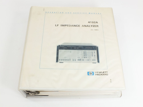 HP 4192A  LF Impedance Analyzer Operation and Service Manual