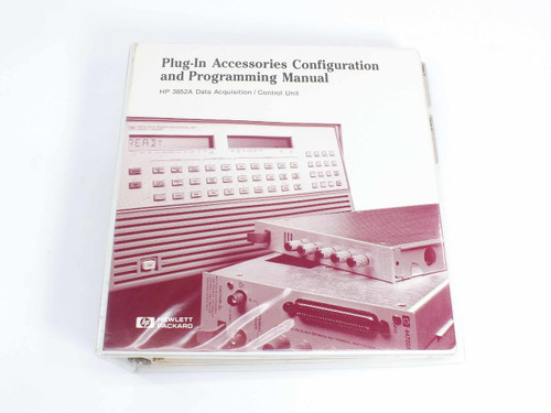 HP 3852A  Configuration & Programming Manual for Data Acquisition/Control Unit