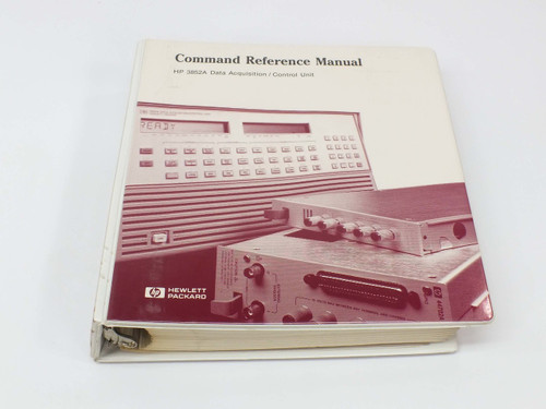 HP 3852A  Data Acquisition/Control Unit Command Reference Manual Vol.3