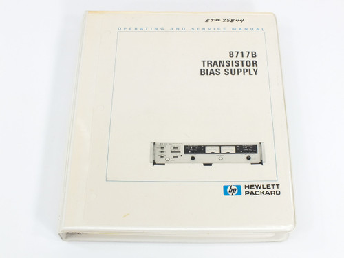HP 8717B  Transistor Bias Supply Operating and Service Manual