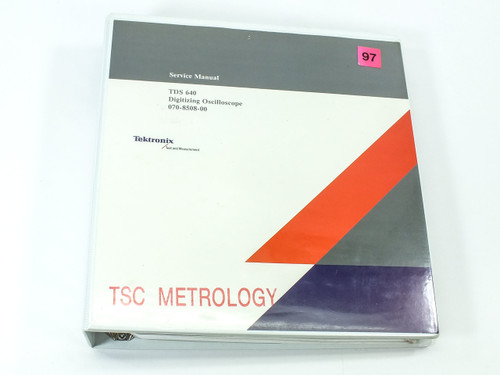 Tektronix TDS 640  Digitizing Oscilloscope Service Manual
