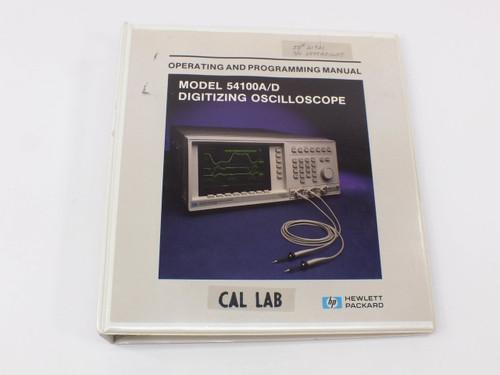 HP 54100A/D  Digitizing Oscilloscope Operating and Programming Manual